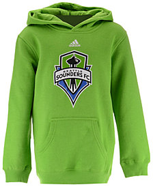 adidas Seattle Sounders FC Primary Logo Hoodie, Big Boys (8-20)