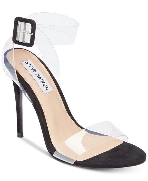 44289230c4a Steve Madden Women s Seeme Lucite Dress Sandals   Reviews ...