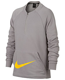 Nike Big Boys 1/2-Zip Training Crew-Neck Sweatshirt