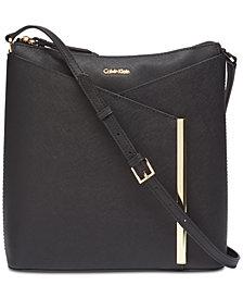 Calvin Klein Mara Saffiano Leather Crossbody