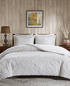 Woolrich Teton 3-Pc. Reversible Faux-Fur Full/Queen Coverlet Set
