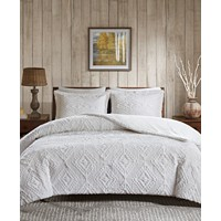 Deals on Woolrich Teton 3-Pc. Reversible Faux-Fur Full/Queen Coverlet Set