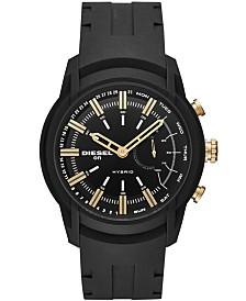 Diesel ON Men's Armbar Black Silicone Strap Hybrid Smart Watch 44mm