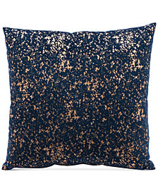 "Zuo Night Blue & Gold 17.7"" x 17.7"" Decorative Pillow"