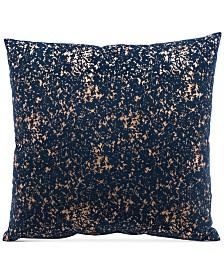 "Zuo Night Blue & Gold 17.7"" x 17.7"" Decorative Pillow"