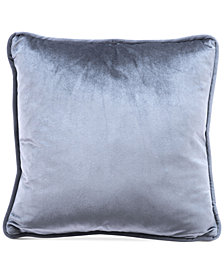 "Zuo Gray Velvet 17.7"" x 17.7"" Decorative Pillow"