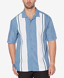 Cubavera Men's Embroidered Panel Camp Shirt