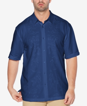 Cubavera Men's Big & Tall Embroidered Short-Sleeve Shirt
