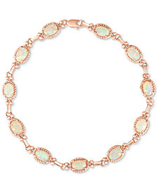 Opal Link Bracelet (3 ct. t.w.) in 14k Rose Gold