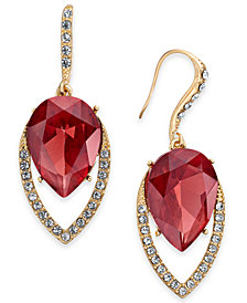 I.N.C. Gold-Tone Crystal & Stone Drop Earrings, Created for Macy's