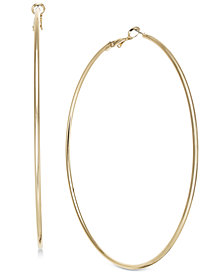 "Thalia Sodi Gold-Tone Slim Extra Large 3.5"" Hoop Earrings, Created for Macy's"