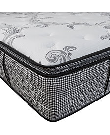 "Chic Couture Cool Gel Memory Foam and Wrapped Coil Hybrid 13"" Pillow Top Mattress, Quick Ship, Mattress in a Box- Queen"