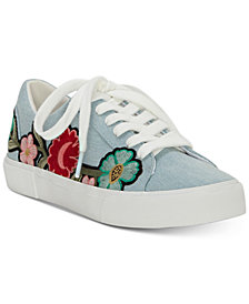 Jessica Simpson Dessa Embroidery Lace-Up Sneakers