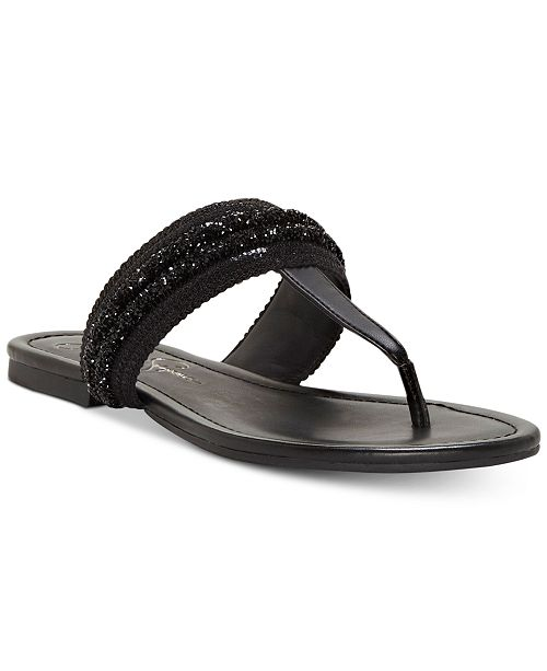 c15c5925466a71 Jessica Simpson Kina T-Strap Thong Sandals   Reviews - Sandals ...