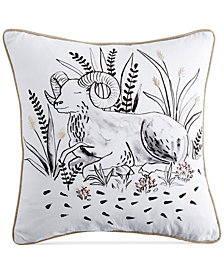 "Peri Home Aries Beaded Graphic-Print 14"" Square Decorative Pillow"