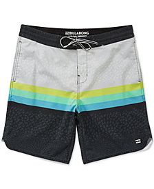 "Billabong Men's Fifty 50 Stripe Geo-Print 19"" Board Shorts"