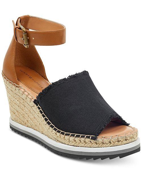 a02a0c61ee49 Tommy Hilfiger Yavino Espadrille Platform Wedge Sandals   Reviews ...