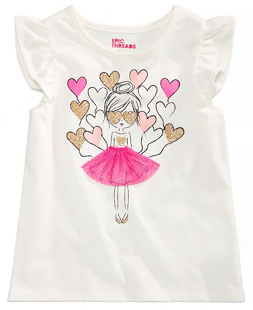 Epic Threads Toddler Girls Balloon Hearts T-Shirt, Created for Macy's