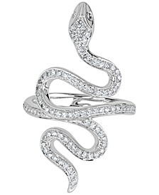 Diamond Pavé Snake Ring (1/2 ct. t.w.) in 14k White Gold