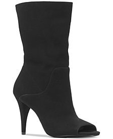 MICHAEL Michael Kors Women's Elaine Open-Toe Mid-Shaft Boots
