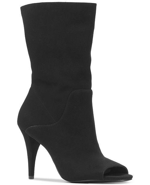 c031d4d26 Michael Kors Women's Elaine Open-Toe Mid-Shaft Boots & Reviews ...