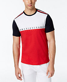 A|X Armani Exchange Men's Colorblocked Logo T-Shirt, Created for Macy's