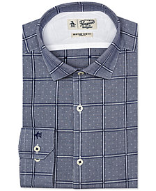 Original Penguin Men's Heritage Slim-Fit Comfort Stretch Dobby Check Dress Shirt