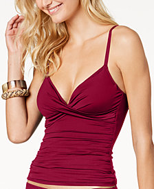 Lauren Ralph Lauren Beach Club Twist Underwire Tummy-Control Tankini Top