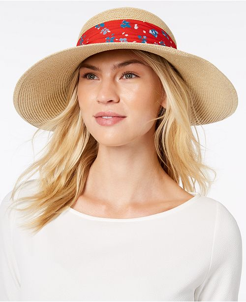 eb453ccc5e5 Nine West Packable Bow Scarf Floppy Sun Hat - Handbags   Accessories ...