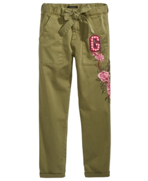 Guess Big Girls Floral Embroidered Pants