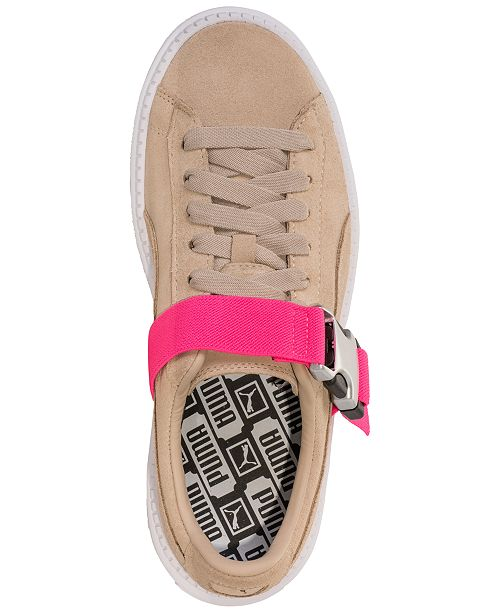889d53eb1421 ... Puma Women s Suede Platform Trace Buckle Casual Sneakers from Finish ...