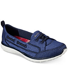 Skechers Women's Microburst - Topnotch Wide Width Casual Walking Sneakers from Finish Line
