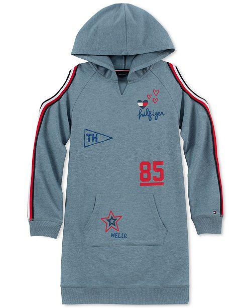 c87e0cf4f2e Tommy Hilfiger Big Girls Cold-Shoulder Hoodie Dress & Reviews ...