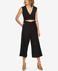1.STATE Wrap-Front Cutout Cropped Jumpsuit