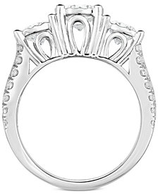 TruMiracle® Diamond Three-Stone Engagement Ring (3 ct. t.w.) in 14k White Gold