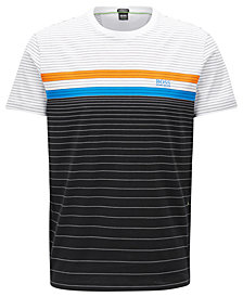 BOSS Men's Regular/Classic-Fit Striped Cotton T-Shirt