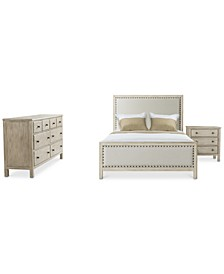 Parker Upholstered Bedroom 3-Pc. Set (Full Bed, Dresser & Nightstand), Created for Macy's