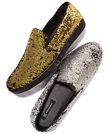I.N.C. Men's Flash Sequin Slip-Ons, Created for Macy's