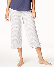 Jenni by Jennifer Moore Printed Cropped Pajama Pants, Created for Macy's