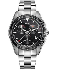 Rado Men's Swiss Chronograph HyperChrome Stainless Steel Bracelet Watch 44.9mm