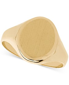 Oval Signet Ring in 14k Gold
