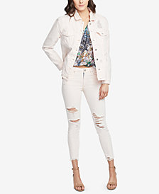 RACHEL Rachel Roy Ripped Denim Jacket
