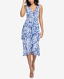 RACHEL Rachel Roy Floral-Print Ruffled Dress, Created for Macy's