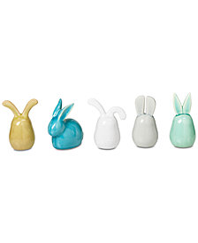 Madison Park 5-Pc. Bunny Ceramic Bunnies Set