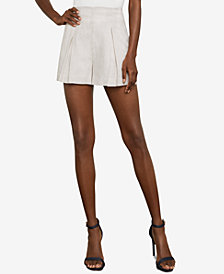 BCBGMAXAZRIA Striped Pleated Short