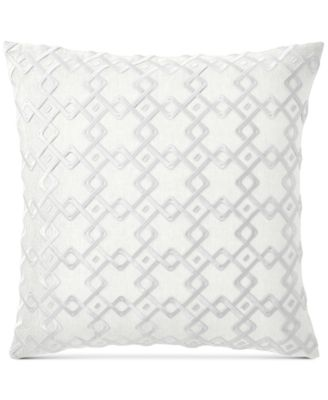 "Embroidered 22"" Square Decorative Pillow, Created for Macy's"