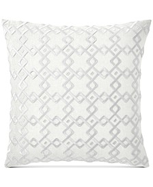 """CLOSEOUT! Embroidered 22"""" Square Decorative Pillow, Created for Macy's"""