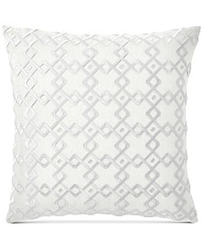 "CLOSEOUT! Hotel Collection Embroidered 22"" Square Decorative Pillow, Created for Macy's"