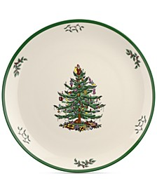 "CLOSEOUT! Christmas Tree 14"" Round Platter"