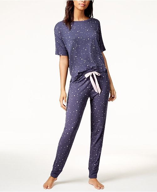 4517bc62d421ad by Jennifer Moore Graphic Pajama Top & Printed Pajama Pants Sleep  Separates, Created for Macy's